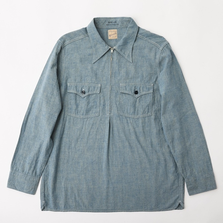 BF-14-010・RAGTIME CHAMBRAY PULLOVER SHIRTS・BLUE 1.jpg