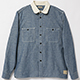 BELAFONTE(ベラフォンテ)_RAGTIME CLERIC CHAMBRAY SHIRTS
